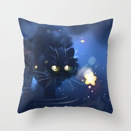 Above stars Throw Pillow