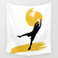 basketball Wall Tapestries featuring Basketball Players by Emir Simsek