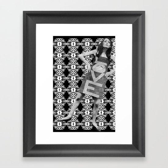 LOVE implosion #9 Framed Art Print