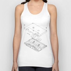 Exploded Cassette Tape  Unisex Tank Top
