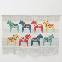 Swedish Horses Wall Hanging