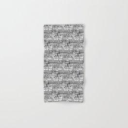 London toile black white Hand & Bath Towel