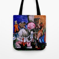 political Tote Bags featuring Political Circus by eVol i
