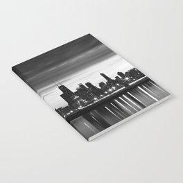 Chicago Skyline Black and White Notebook