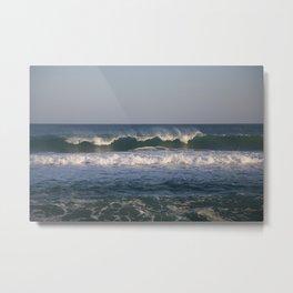 Waves breaking in the Mediterranean Metal Print
