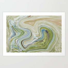 Liquid Earth Art Print