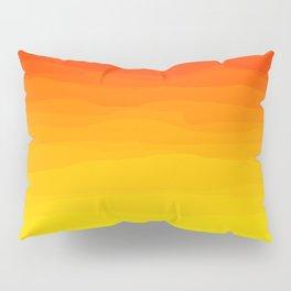 Red to Yellow Sunset Pillow Sham