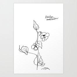 Abutilon abutiloides Art Print