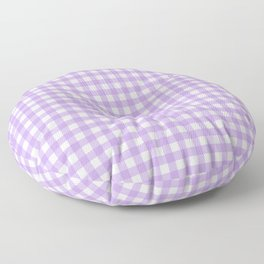 Chic Lilac Purple Gingham Floor Pillow