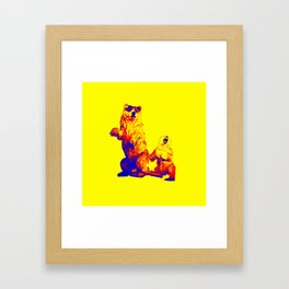 Ours Republique yellow Framed Art Print