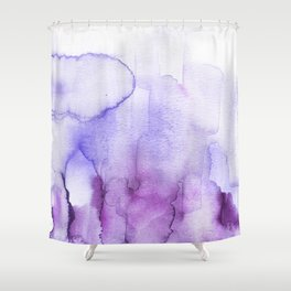 Wanderlust purple watercolor Shower Curtain