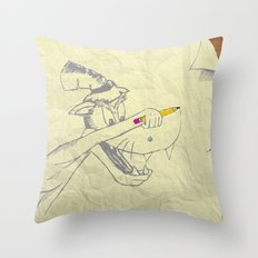 I am the Bad Wolf and I create myself!! Throw Pillow