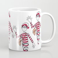 waldo Mugs featuring Waldo by Lady Catton