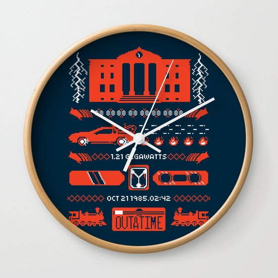 1.21 Stitches Wall Clock