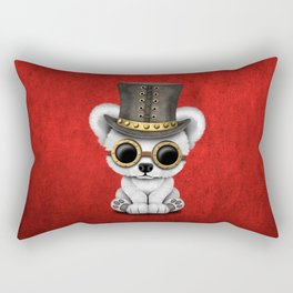 Steampunk Baby Polar Bear Rectangular Pillow