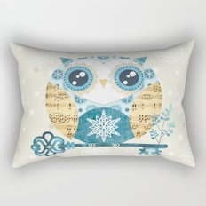 Winter Wonderland Owl Rectangular Pillow