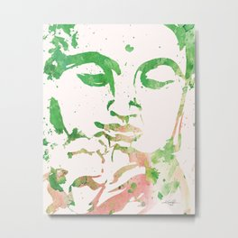 Watercolor Buddha No. 206 by Kathy Morton Stanion Metal Print