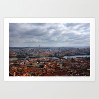 prague Art Prints featuring Prague by T. Peters