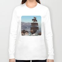 pirate ship Long Sleeve T-shirts featuring Pirate Ship by Simone Gatterwe