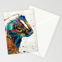 Colorful Skunk Art - Dee Stinktive - By Sharon Cummings Stationery Cards