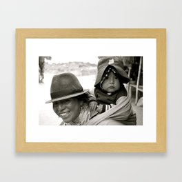 Ecuadorian Mother and Child Framed Art Print