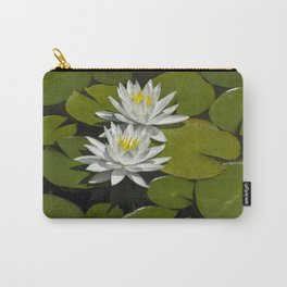 Two Water Liles Carry-All Pouch