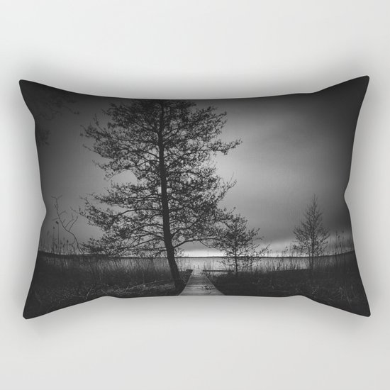 On the wrong side of the lake 9 Rectangular Pillow
