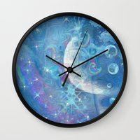 celestial Wall Clocks featuring Celestial by Geni