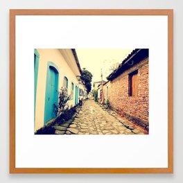 Stone Street - Paraty Framed Art Print