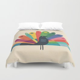 Whimsical Peacok Duvet Cover