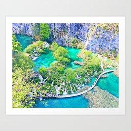Waterfall Oasis Art Print