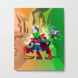 Piccolo x Thor Mashup Metal Print