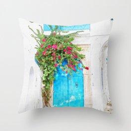Tunisian door Throw Pillow