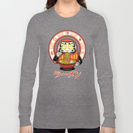 Daruma Zen Ramen Long Sleeve T-shirt