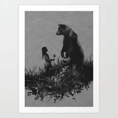 The Bear Encounter Art Print