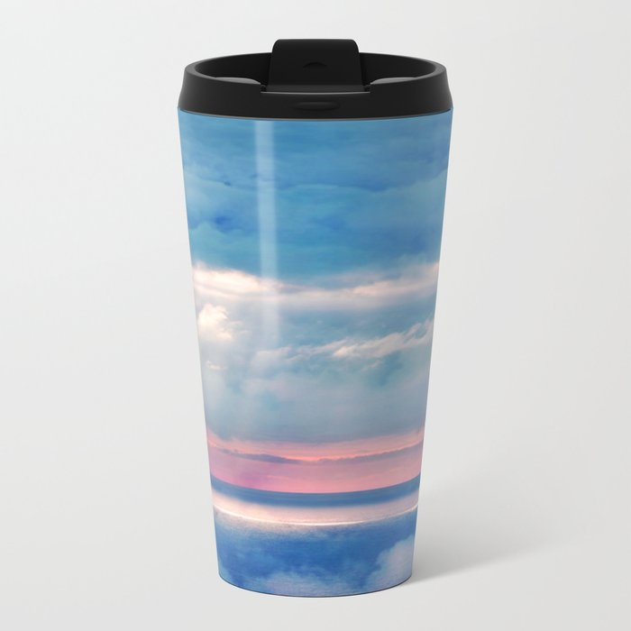 Celestial light Metal Travel Mug