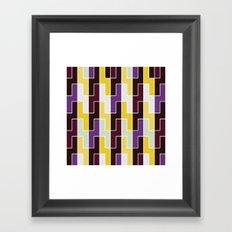 Purple & yellow rectangle pattern Framed Art Print
