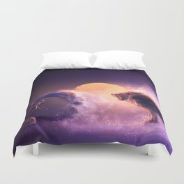 LEO from the Dancing Zodiac Duvet Cover