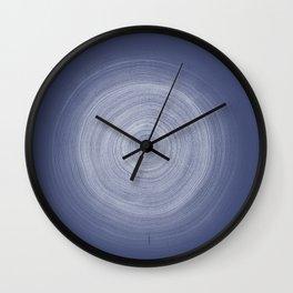 Indigo Tree Rings Wall Clock