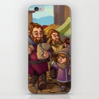 nori iPhone & iPod Skins featuring Brothers Ri Market Day by Hattie Hedgehog