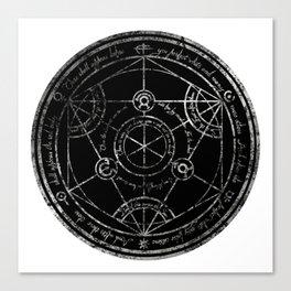 Human Transmutation Circle - silver grunge Canvas Print