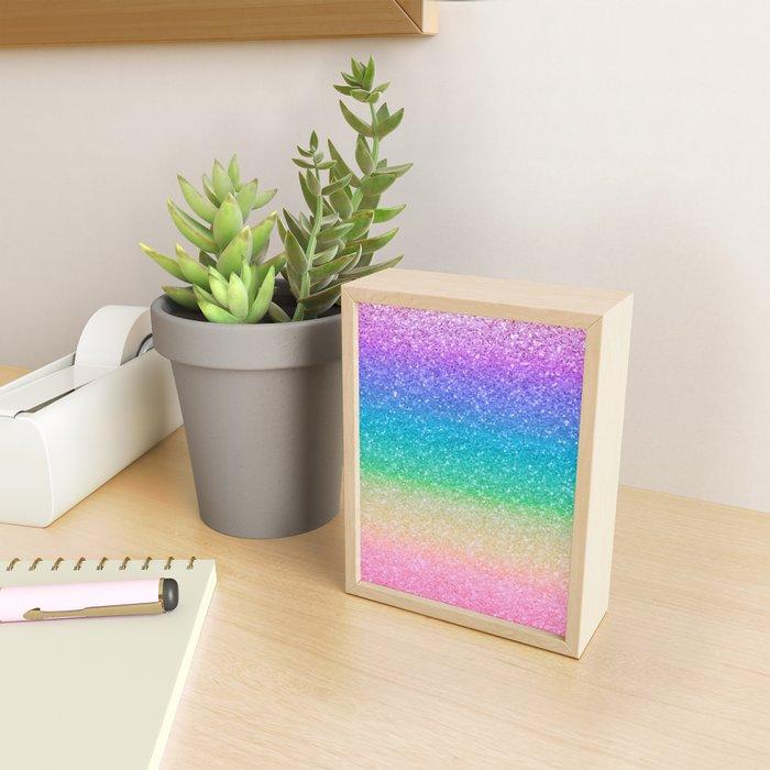 Rainbow Glitter Framed Mini Art Print