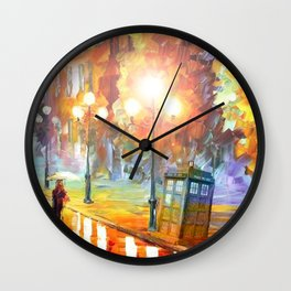 Old Tardis Wall Clock