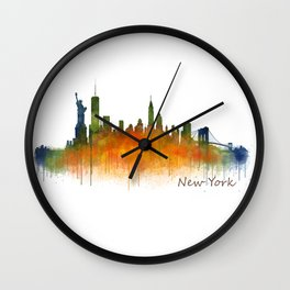 New York City Skyline Hq V02 Wall Clock