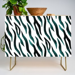 Here Kitty Kitty - Teal Credenza