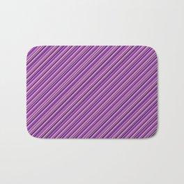 Lilac Purple Violet Inclined Stripes Bath Mat