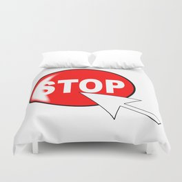 Computer Icon Stop Duvet Cover