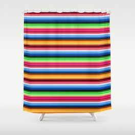 Mexican Serape Stripes Shower Curtain