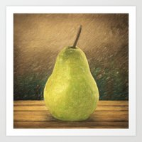 pear Art Prints featuring Pear by Taylan Soyturk