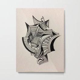 Disheveled Staircase Metal Print